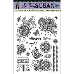 Hot Off The Press Acrylic Stamps 6 X8 Sheet - Simply Susan