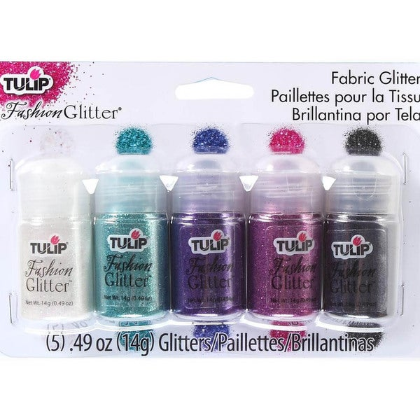 Tulip Fashion Glitter 14 Grams 5/Pkg - Rock And Roll