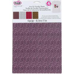 Tulip Transfer Sheets 8.5 X11 4/Pkg - Animal Prints