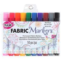 Tulip Fabric Markers 10/Pkg - Rainbow