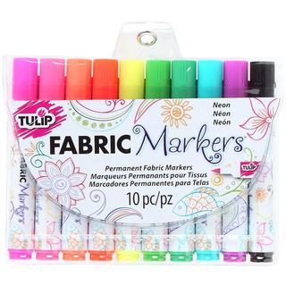 Tulip Fabric Markers 10/Pkg - Neon