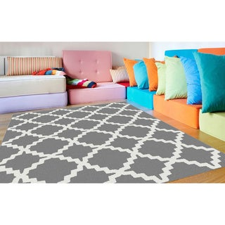 Metropolis Contemporary Grey Area Rug (5'3 x 7'3)