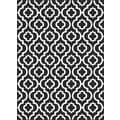 Metropolis Contemporary Black Area Rug (5'3 x 7'3)