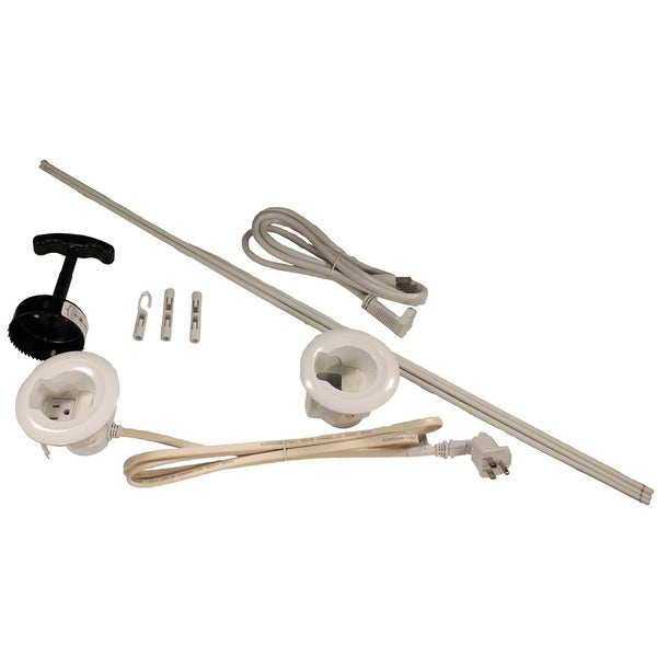 Wiremold CMK70 Flat Screen TV Cord and Cable Power Kit