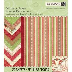 Christmas Cheer Designer Paper Pad 6 X6 24/Sheets - Double-Sided