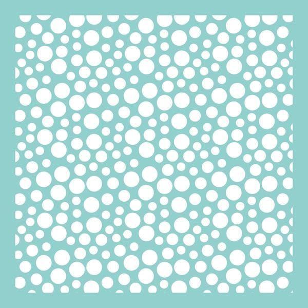 Template 12 X12 - Bubbles