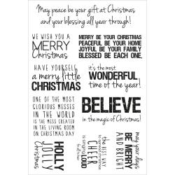 Christmas Clear Stamps 6.25 X4 (16cm X 10cm) - Quotes