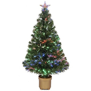 36-inch Multi-color LED Fiber Optic Tree
