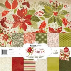 Christmas Carol Paper Pack 12 X12 - 6 Double-Sided Designs/2 Each + Stickers