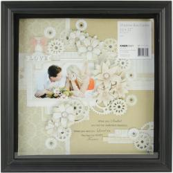 Shadow Box Frame 12 X12 - Black