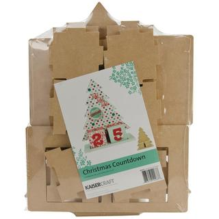 Beyond The Page MDF Christmas Countdown - 9.75 X5 X13