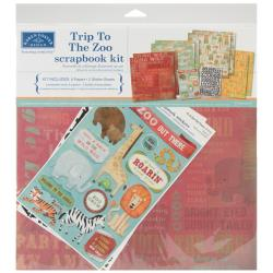 Trip To The Zoo Scrapbook Page Kit 12 X12 -