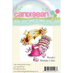 Candibean Unmounted Rubber Stamp - Wendy's Birthday Cakes