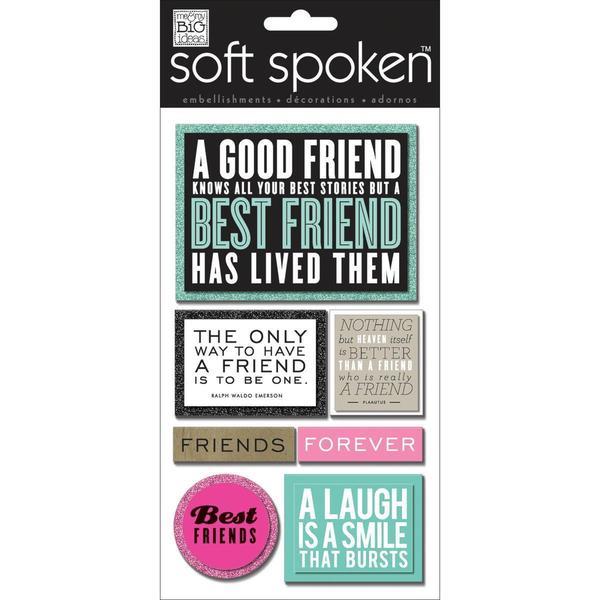 Soft Spoken Themed Embellishments - A Good Friend