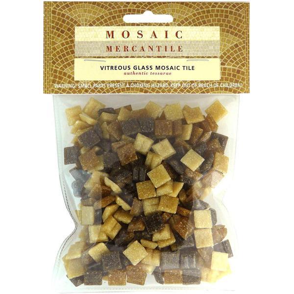 3/8 Mini Mosaic Mix 1/2 Pound - Earthtones