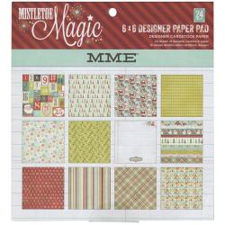 Mistletoe Magic Designer Paper Pad 6 X6  24/Sheets - Double-Sided