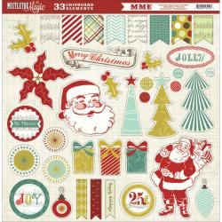 Mistletoe Magic Chipboard Die-Cuts 12 X12 - Accessories