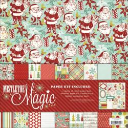 Mistletoe Magic Paper & Accessories Kit 12 X12 -