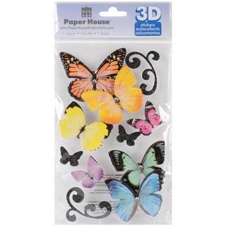 Paper House 3-D Sticker - Butterflies