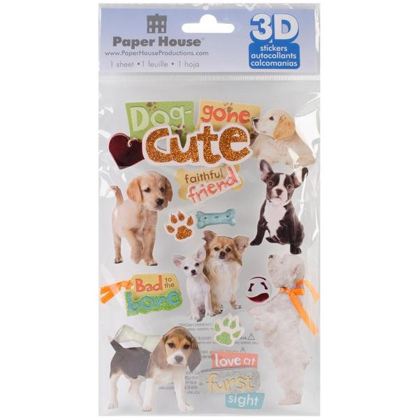 Paper House 3-D Sticker - Dog Gone Cute