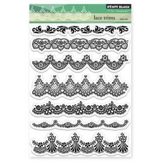 Penny Black Clear Stamps 5 X7.5 Sheet - Lace Trims