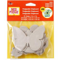 Mod Podgeable Chip Board Shapes 20pc/Pkg -