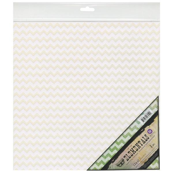 Elementals Resist Canvas Sheets 12 X12 - White Ric Rac