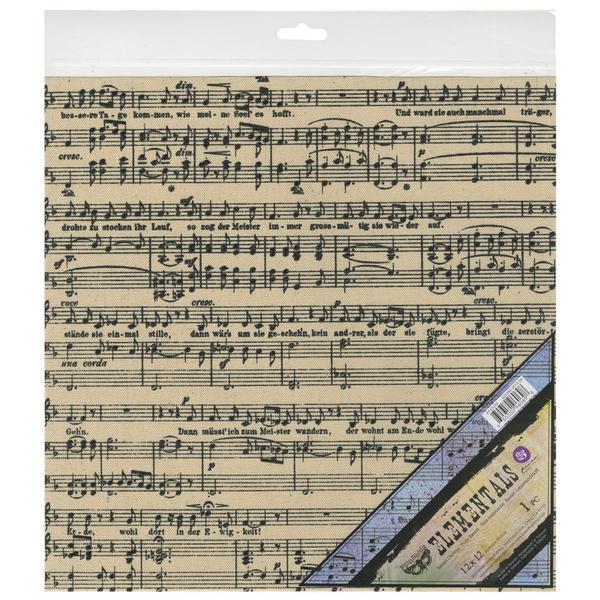 Elementals Resist Canvas Sheets 12 X12 - Black Music