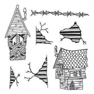 Dyan Reaveley's Dylusions Cling Stamp Collection - This Old House