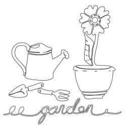 Claudine Hellmuth Studio Stencil Collection 6 X6 - In The Garden