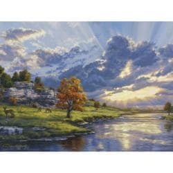 Paint By Number Artist's Collection 12 X16 - Sunrise By The River's Edge