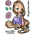 Some Odd Girl 4 X3 Clear Stamp Set - Rapunzel