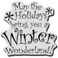 Stampendous Christmas Cling Rubber Stamp - Winter Wonder