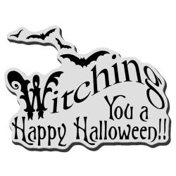 Stampendous Halloween Cling Rubber Stamp - Witching U