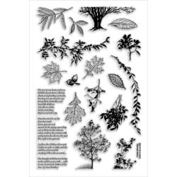 Stampendous Perfectly Clear Stamps 4 X6 Sheet - Leaves and Trees