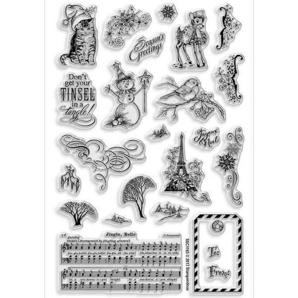 Stampendous Clear Christmas Stamp - Christmas Charms