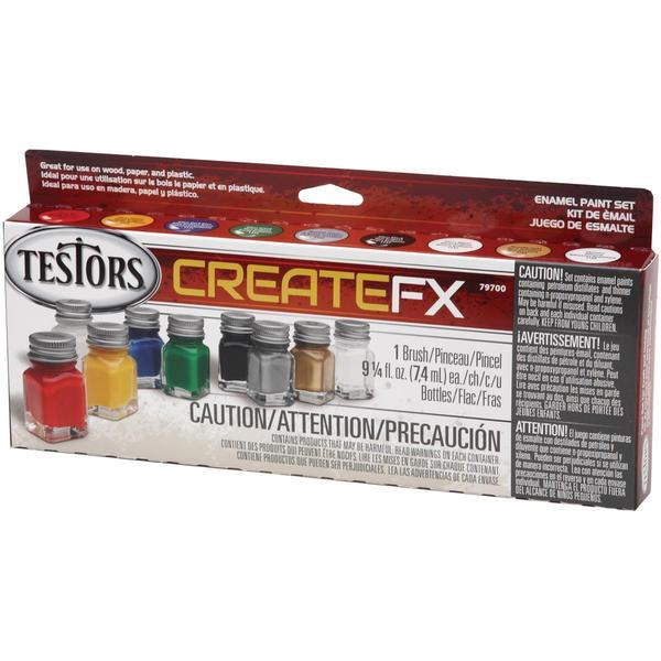 CreateFX Enamel Paint Set - Gloss