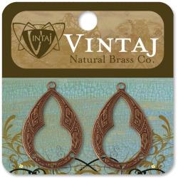 Vintaj Metal Accents 2/Pkg - Bohemian Teardrop 30mmX21mm