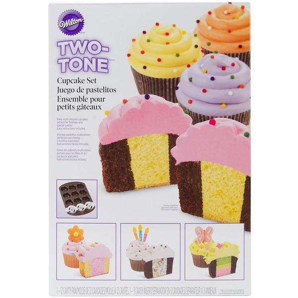 Two Tone Cupcake Baking Set - 10.8 X15.9 2pcs (12 Cavity)