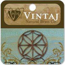 Vintaj Metal Accent 1/Pkg - Stained Glass Window 28mm