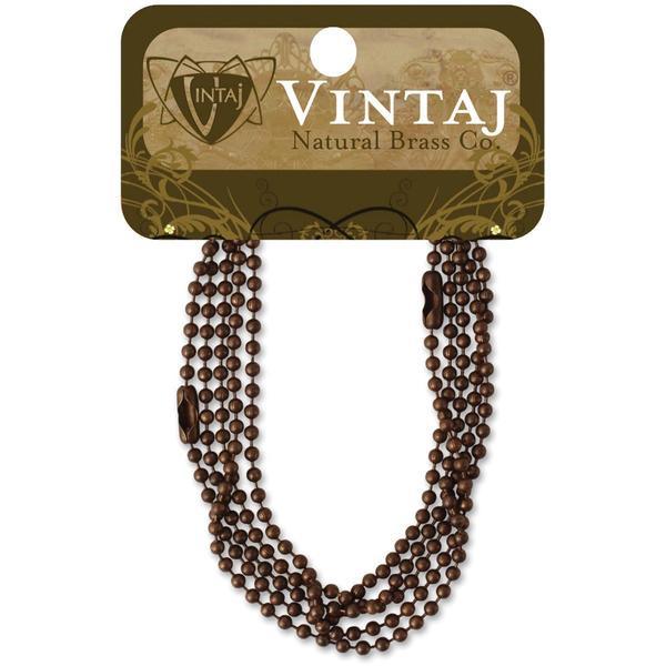 Vintaj Metal Chains 18 2/Pkg - Ball Chain 2.4mm