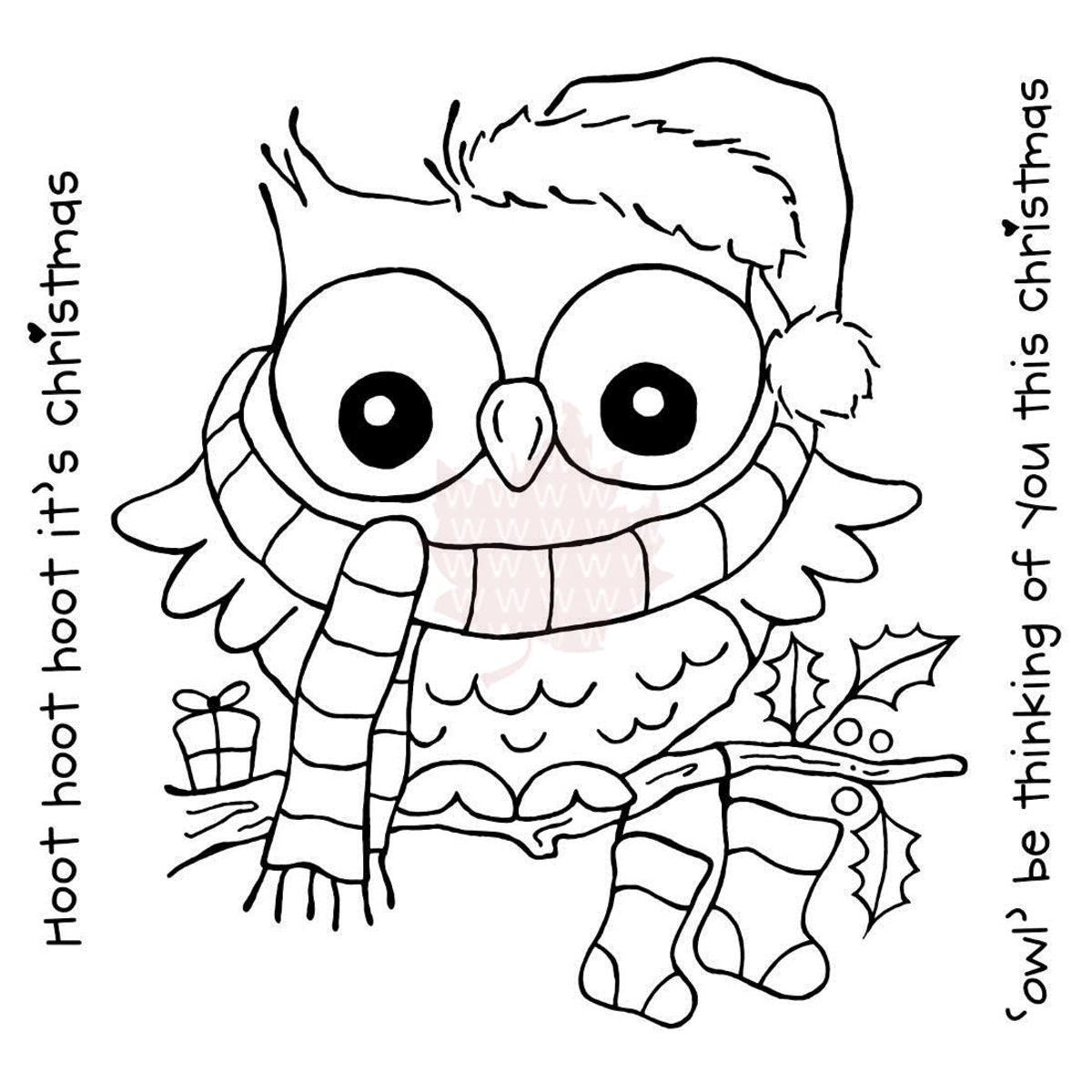 cute baby animal coloring pages owls coloring pages Owl Coloring Pages Christmas Color by Number  Christmas Owl Coloring Page