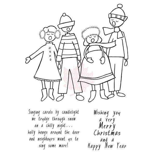 Woodware Clear Stamps 5.75 X4 Sheet - Carol Singers