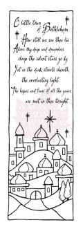 Woodware Clear Stamps 3.5 X5.5 - Bethlehem
