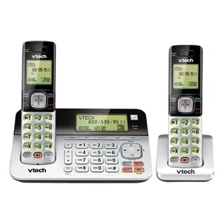 VTech CS6859-2 DECT 6.0 Expandable Cordless Phone with Answering Syst