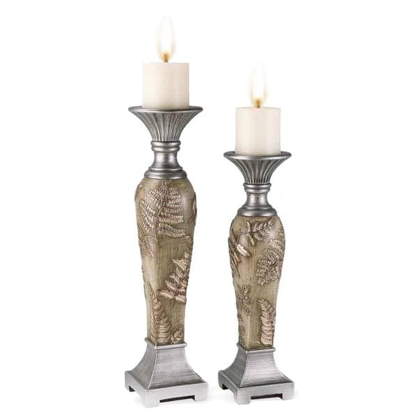 Fern Decorative Candleholders (Set of 2)