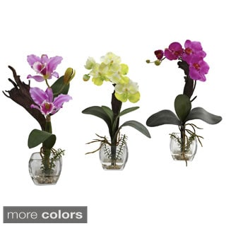 Mixed Orchid Cube Arrangements (Set of 3)
