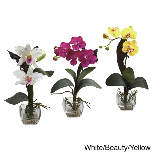Mixed Orchid Cube Arrangements (Set of 3) 11786681