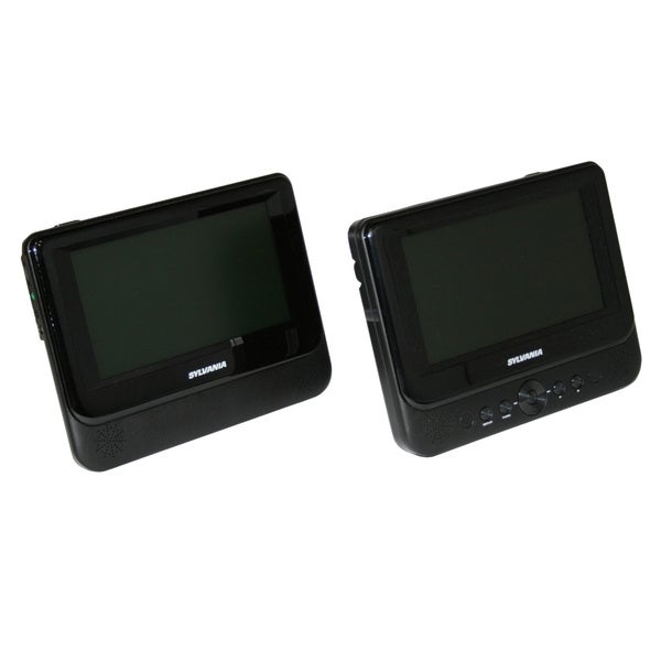 "Sylvania 7"" Dual Screen Portable DVD Player (Refurbished)"