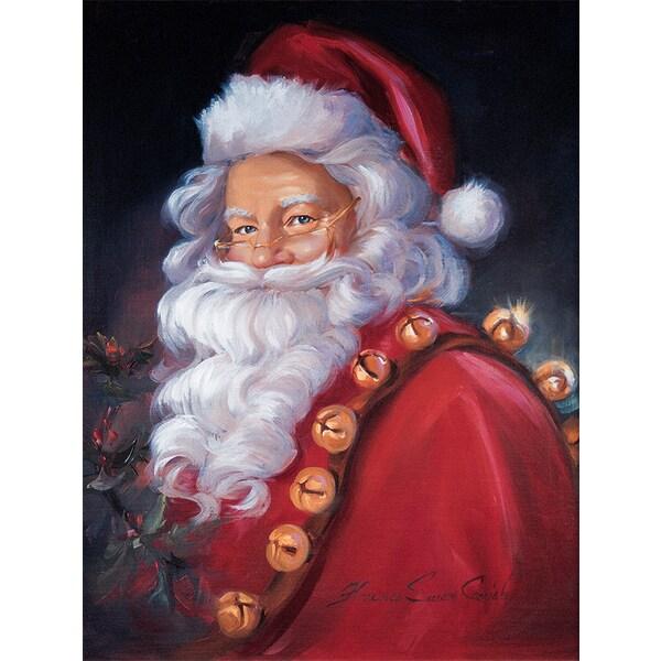 'Holiday Christmas Santa' Paper Print